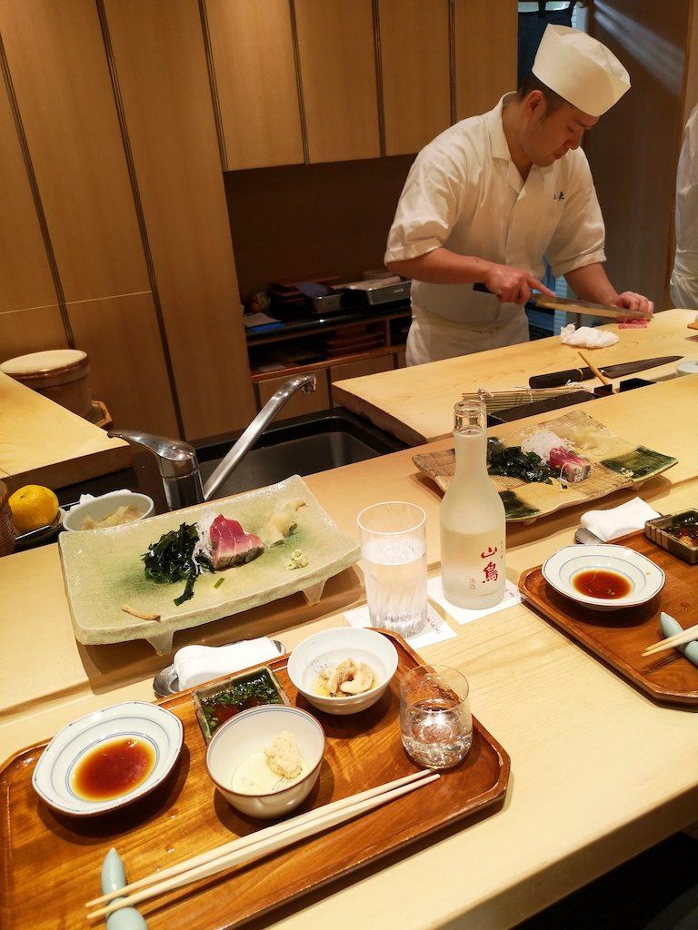 Lækker sushi i Tokyo