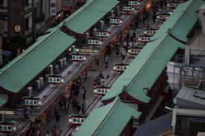 Boder ved Senso-ji