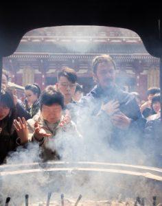 Røgelse ved tempel