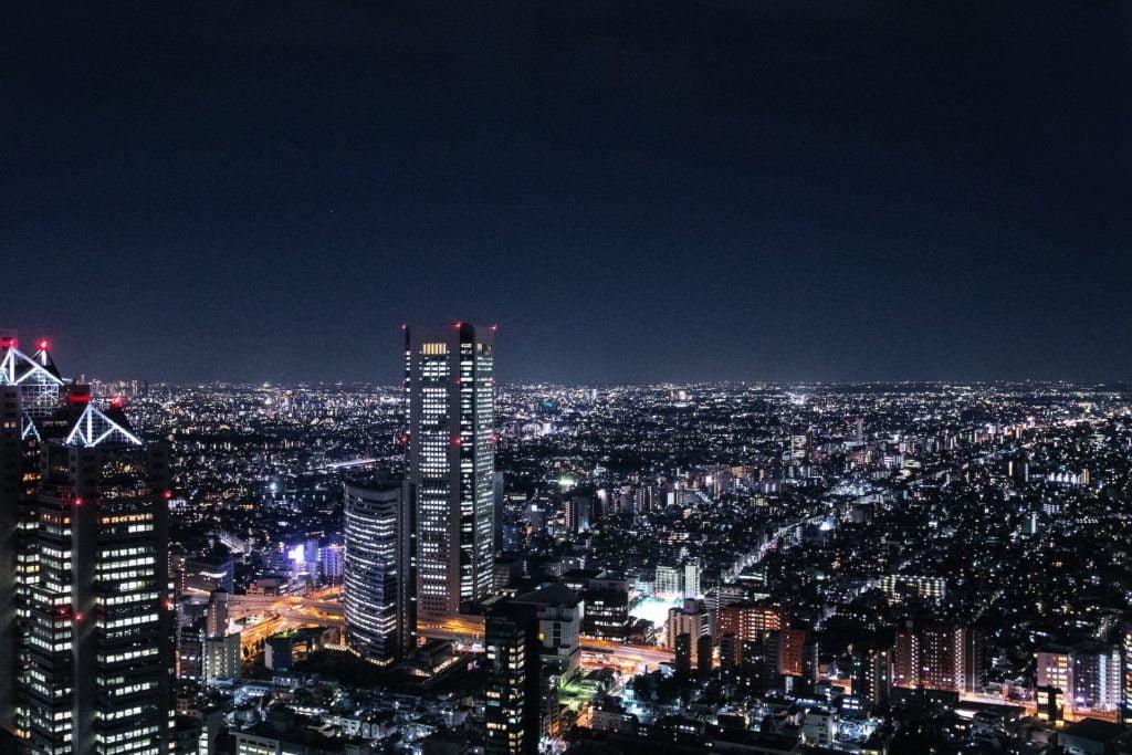 God udsigt fra Tokyo Metropolitan Government Building